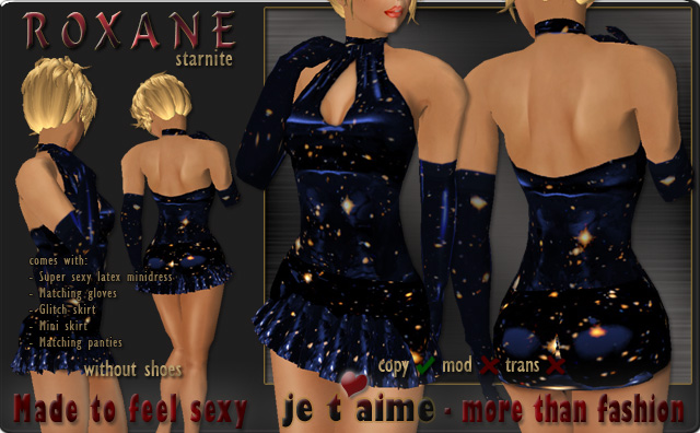 Supersexy Latex Minidress *Roxane* starnite