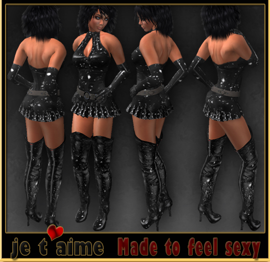 Complete Sexy Leather Outfit *Starnite* black & white