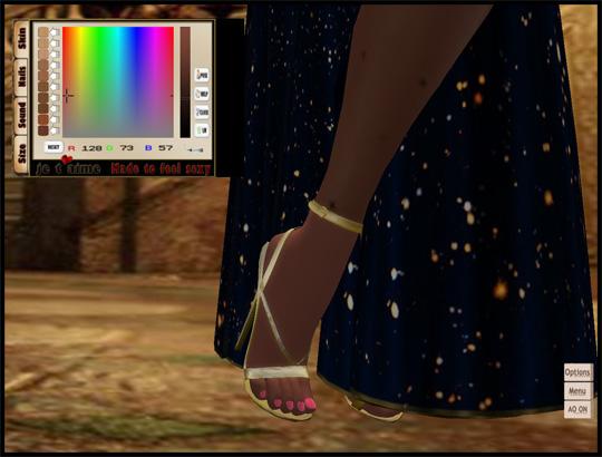Matching High Heeled Sandals *Mandy* - gold